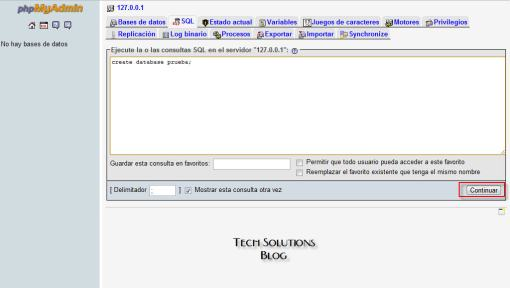 Sentencia Create Database